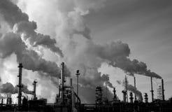 De raffinaderij b&w van de prairie sluit 2 Royalty-vrije Stock Foto's