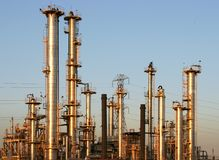 De Raffinaderij van de olie #1 Stock Foto