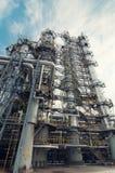 De raffinaderij van de olie Royalty-vrije Stock Foto's