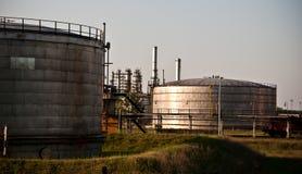 De raffinaderij van de olie Royalty-vrije Stock Foto