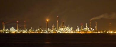 De Raffinaderij van de Olie van Singapore en de Installaties van de Productie Stock Foto
