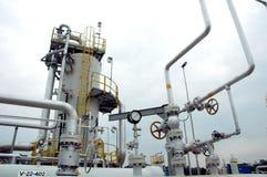 De raffinaderij van het gas stock foto's