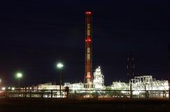 De raffinagefabriek van de olie Stock Fotografie