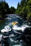 De rafting groep van de stroomversnellingrivier Stock Foto