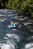 De rafting groep van de stroomversnellingrivier Royalty-vrije Stock Afbeelding