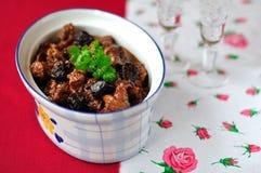 De Ragoût van het varkensvlees, van de Gedroogde pruim en van de Haven Royalty-vrije Stock Foto