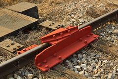 De Rail. De-Rail Device on Track in a rail yard, Sila-At railway station, Thailand Royalty Free Stock Photography