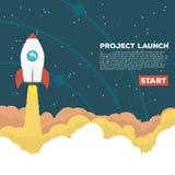 De raket gaat uit royalty-vrije illustratie