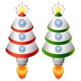 De raket van de kerstboom Stock Foto's