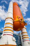 De raket van het Atlantisruimteveer in Kennedy Center stock afbeelding