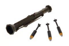 De raketlanceerinrichting van het stuk speelgoed Stock Fotografie