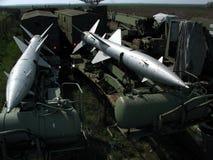 De raketten van vliegtuigen Royalty-vrije Stock Afbeeldingen