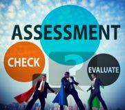 De Raming van de beoordelingsberekening evalueert Metingsconcept stock fotografie
