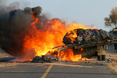 De ramp van de brand Stock Afbeeldingen
