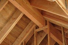 De rand en de daksparren van het dak Royalty-vrije Stock Foto's