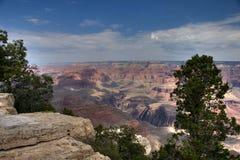 De rand over Grand Canyon Royalty-vrije Stock Foto's
