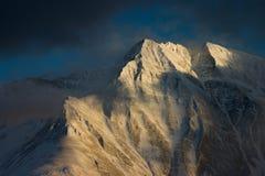 De rand van Battlihorn, Zwitserse Alpen Royalty-vrije Stock Foto's