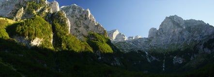 De rand van de berg Stock Foto's