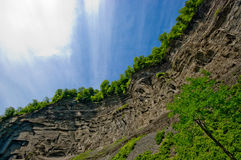 De rand van de klip, upstate New York Stock Afbeelding