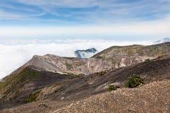 De Rand van de Vulkaan van Irazu royalty-vrije stock afbeelding