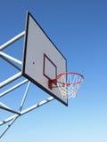 De rand van het basketbal en netto stock fotografie