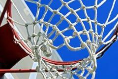 De Rand van het basketbal en Netto stock afbeelding