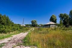 De rand van het dorp Stock Afbeelding
