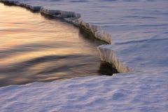 De rand van het ijs. Stock Fotografie