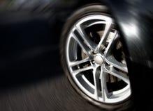 De Rand van het wiel in Motie Royalty-vrije Stock Afbeeldingen