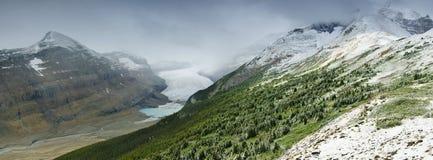 De Rand van Parker en de Gletsjer van Saskatchewan Stock Fotografie