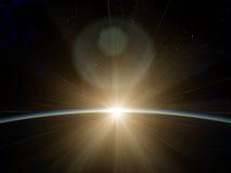 De rand van ruimte Stock Afbeeldingen