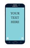 De rand van Samsung s6 met modifiable teksten op het scherm Royalty-vrije Stock Foto's