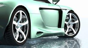 De randen van de sportwagen Stock Afbeeldingen