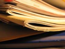 De randen van documenten Stock Fotografie