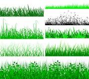 De randen van het gras vector illustratie