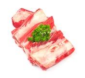 De randen van het vlees met kruiden Stock Foto's
