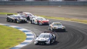 De rasdag bij 2014 AUTOBACS SUPER GT Round7 BURIRAM VERENIGDE SUPER G Stock Afbeeldingen