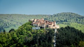 De Rasnov-Vesting, Roemenië stock foto's