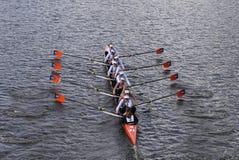 De rassen van OKC Riversport in het Hoofd van Charles Regatta Royalty-vrije Stock Foto's