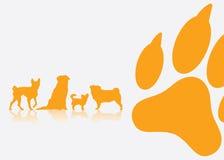 De rassenachtergrond van de hond vector illustratie