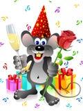 De rat van de partij met roze en champa Stock Afbeelding