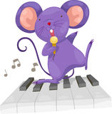 De rat zingt vector royalty-vrije illustratie
