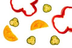 De rauwe groenten van de besnoeiing Stock Fotografie