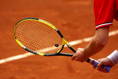 De reactie van het tennis royalty-vrije stock afbeeldingen