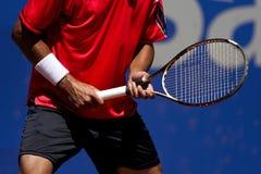 De reactie van het tennis Stock Afbeeldingen