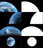 De realistische Aardeclose-up geeft terug Stock Foto