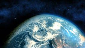De realistische Aardeclose-up geeft terug Royalty-vrije Stock Afbeeldingen