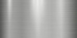 De realistische achtergrond van de metaaltextuur met lichten, schaduwen en scraths in grijze tint Royalty-vrije Stock Foto