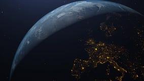 De realistische animatie van de Aarde 3D omwenteling royalty-vrije illustratie