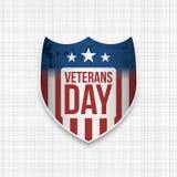 De realistische Banner van de veteranendag stock illustratie